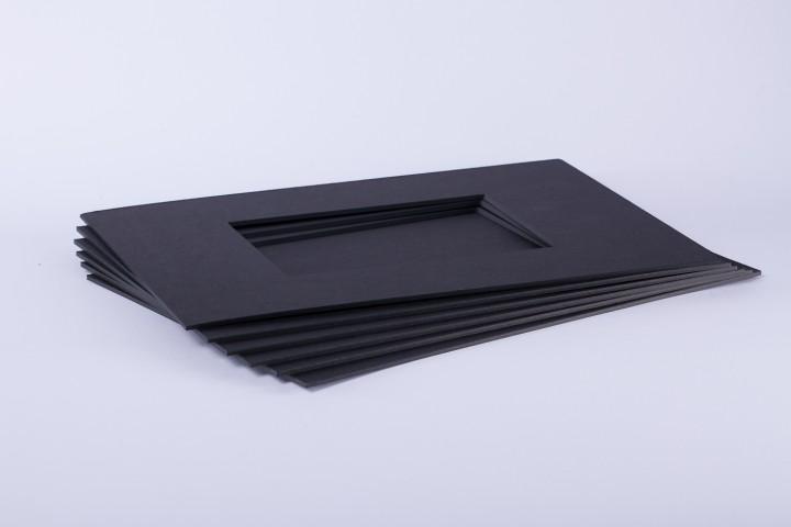 Passepartouts schwarz in 2 mm