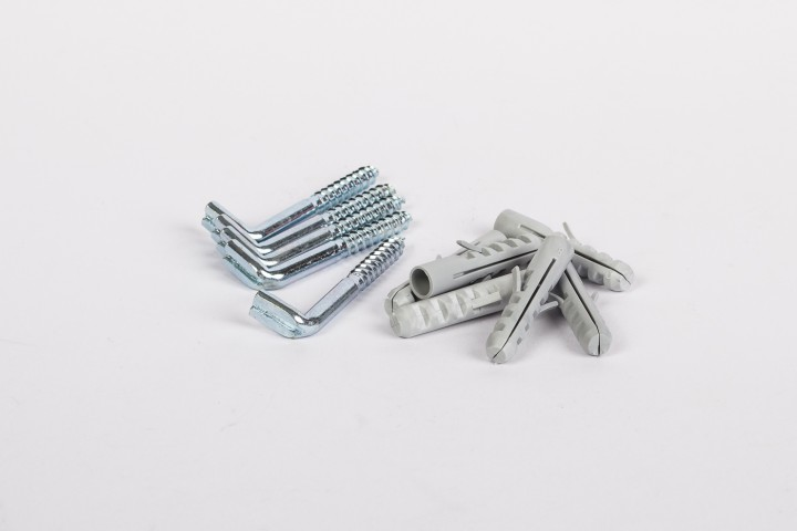 Schraubhaken und Dübel für Haftblech 1 VE = 50 Stück