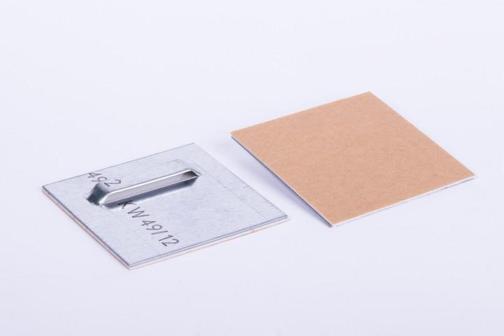Haftblech mit Oese 70 x 70 mm / 1 VE = 100 Stück