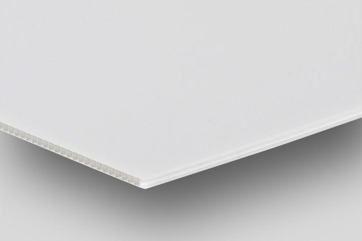 Hohlkammerplatte weiß in 3,5 mm