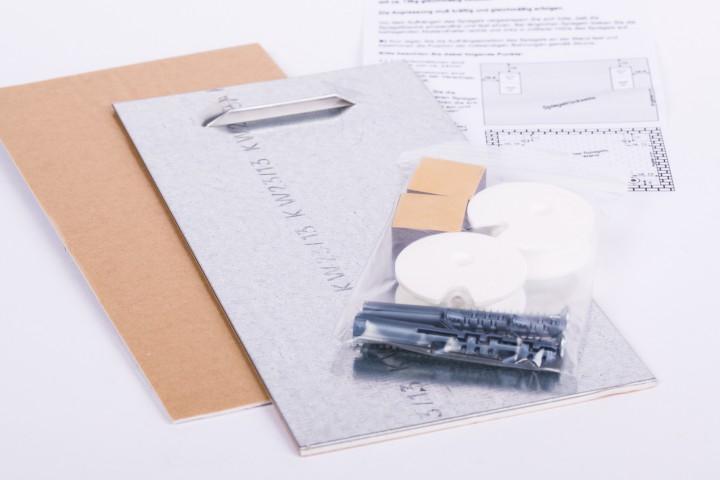 Haftblech-Aufhängeset selbstklebend 100 x 200 mm 1 VE = 24 Sets
