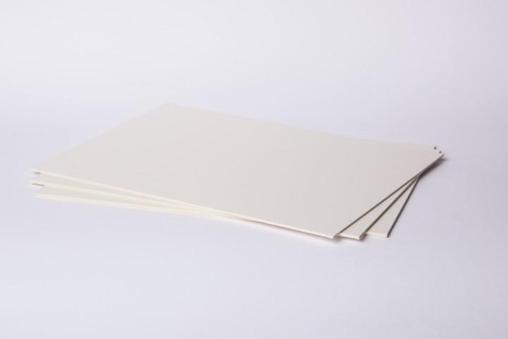 Passepartoutkarton naturweiß/weiß 80 x 120 cm in 1,5 mm