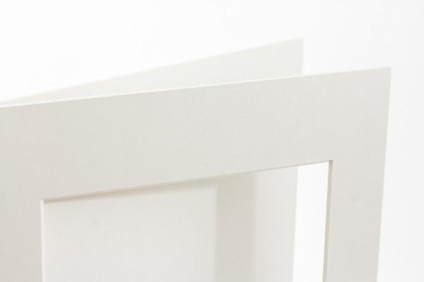 Passepartout Monogard naturweiß in 1,5 mm