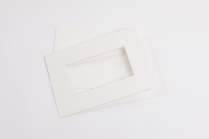 Passepartouts weiß/creme in (1,5 mm 2,0 mm und 3,0 mm)